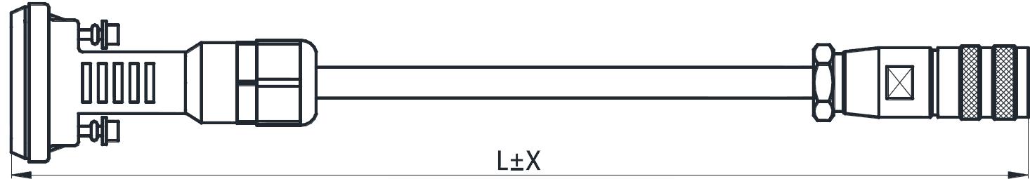 AISG控制电缆(配中兴DB15)
